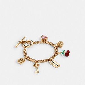 Gold Coach Charm Bracelet Toggle 91424 GDE1L